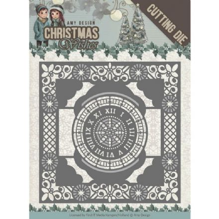 ADD10148 ~ Twelve O'Clock Frame Die ~ Christmas Wishes  ~ Amy Design